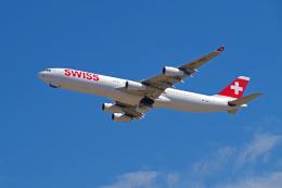 ppuw43さんが、成田国際空港で撮影したスイスインターナショナルエアラインズ A340-313Xの航空フォト(写真)