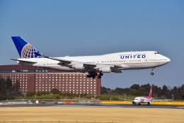 パンダさんが、成田国際空港で撮影したユナイテッド航空 747-422の航空フォト(写真)