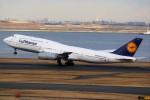 ばっきーさんが、羽田空港で撮影したルフトハンザドイツ航空 747-830の航空フォト(写真)