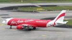 誘喜さんが、シンガポール・チャンギ国際空港で撮影したエアアジア・インドネシア A320-216の航空フォト(写真)