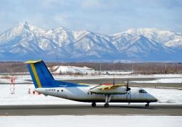 Cygnus00さんが、新千歳空港で撮影したAvmaxグループ DHC-8-103Q Dash 8の航空フォト(写真)