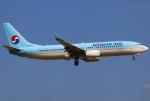 あしゅーさんが、福岡空港で撮影した大韓航空 737-8Q8の航空フォト(写真)