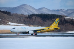 KAMIYA JASDFさんが、函館空港で撮影したバニラエア A320-214の航空フォト(写真)