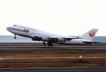 動物村猫君さんが、大分空港で撮影した日本航空 747-346の航空フォト(写真)