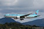 遠森一郎さんが、福岡空港で撮影した大韓航空 777-2B5/ERの航空フォト(写真)