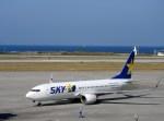 よんすけさんが、那覇空港で撮影したスカイマーク 737-8FHの航空フォト(写真)