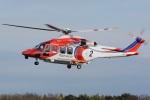 (`・ω・´)さんが、調布飛行場で撮影した札幌市消防局消防航空隊 AW139の航空フォト(写真)