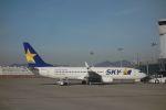 Jin Bergqiさんが、神戸空港で撮影したスカイマーク 737-8ALの航空フォト(写真)