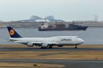 おっしーさんが、羽田空港で撮影したルフトハンザドイツ航空 747-830の航空フォト(写真)