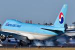 パンダさんが、成田国際空港で撮影した大韓航空 747-8HTFの航空フォト(写真)