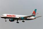 菊池 正人さんが、ロサンゼルス国際空港で撮影したアメリカウエスト航空 757-2S7の航空フォト(写真)
