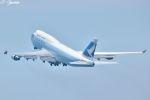 吉田高士さんが、羽田空港で撮影したキャセイパシフィック航空 747-412の航空フォト(写真)