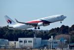 mojioさんが、成田国際空港で撮影したマレーシア航空 737-8H6の航空フォト(写真)