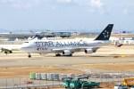 ガス屋のヨッシーさんが、関西国際空港で撮影したタイ国際航空 747-4D7の航空フォト(写真)
