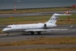 ガス屋のヨッシーさんが、関西国際空港で撮影した国土交通省 航空局 BD-700-1A10 Global Expressの航空フォト(写真)