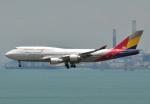 justice2002さんが、香港国際空港で撮影したアシアナ航空 747-48EMの航空フォト(写真)