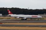 Mochi7D2さんが、成田国際空港で撮影したスイスインターナショナルエアラインズ A340-313Xの航空フォト(写真)