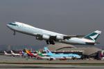 LAX Spotterさんが、ロサンゼルス国際空港で撮影したキャセイパシフィック航空 747-867F/SCDの航空フォト(写真)