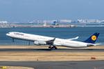 Y-Kenzoさんが、羽田空港で撮影したルフトハンザドイツ航空 A340-642Xの航空フォト(写真)