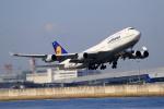 latchさんが、関西国際空港で撮影したルフトハンザドイツ航空 747-430の航空フォト(写真)