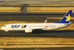 あしゅーさんが、羽田空港で撮影したスカイマーク 737-8HXの航空フォト(写真)