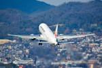 車掌さんが、伊丹空港で撮影した日本航空 767-346/ERの航空フォト(写真)