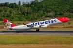 ぼんやりしまちゃんさんが、プーケット国際空港で撮影したエーデルワイス航空 A340-313Xの航空フォト(写真)