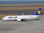 きゅうさんが、中部国際空港で撮影したスカイマーク 737-8Q8の航空フォト(写真)
