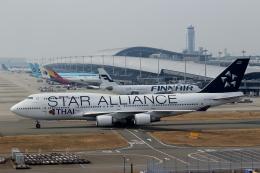 ハピネスさんが、関西国際空港で撮影したタイ国際航空 747-4D7の航空フォト(写真)