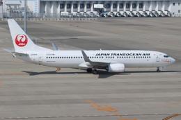 富士のこまきさんが、中部国際空港で撮影した日本トランスオーシャン航空 737-8Q3の航空フォト(写真)