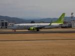 ゆう改めてさんが、熊本空港で撮影したソラシド エア 737-81Dの航空フォト(写真)