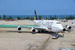 ハネヨンさんが、プーケット国際空港で撮影したタイ国際航空 747-4D7の航空フォト(写真)