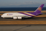 きんめいさんが、中部国際空港で撮影したタイ国際航空 A380-841の航空フォト(写真)