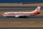 きんめいさんが、中部国際空港で撮影した日本トランスオーシャン航空 737-446の航空フォト(写真)