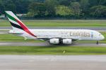 Tomo-Papaさんが、シンガポール・チャンギ国際空港で撮影したエミレーツ航空 A380-861の航空フォト(写真)