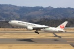 ドリさんが、福島空港で撮影した日本航空 777-246/ERの航空フォト(写真)
