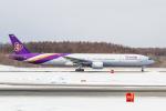 岡崎美合さんが、新千歳空港で撮影したタイ国際航空 777-3D7の航空フォト(写真)