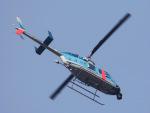 丸めがねさんが、東京ヘリポートで撮影した警視庁 206L-4 LongRanger IVの航空フォト(写真)