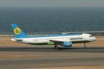 なぞたびさんが、中部国際空港で撮影したウズベキスタン航空 A320-214の航空フォト(写真)