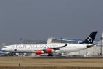 カンクンさんが、成田国際空港で撮影したスカンジナビア航空 A340-313Xの航空フォト(写真)