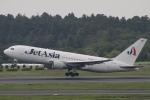 小牛田薫さんが、成田国際空港で撮影したジェット・アジア・エアウェイズ 767-2J6/ERの航空フォト(写真)