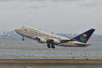 saku39さんが、羽田空港で撮影したサウジアラビア王国政府 747SP-68の航空フォト(写真)