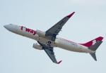 CB20さんが、関西国際空港で撮影したティーウェイ航空 737-8Q8の航空フォト(写真)