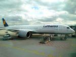 まいけるさんが、ミュンヘン・フランツヨーゼフシュトラウス空港で撮影したルフトハンザドイツ航空 A350-941XWBの航空フォト(写真)