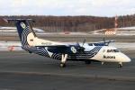 ウッディーさんが、新千歳空港で撮影したオーロラ DHC-8-201Q Dash 8の航空フォト(写真)