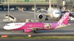 誘喜さんが、羽田空港で撮影したピーチ A320-214の航空フォト(写真)