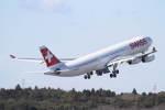 プルシアンブルーさんが、成田国際空港で撮影したスイスインターナショナルエアラインズ A340-313Xの航空フォト(写真)