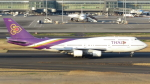 誘喜さんが、羽田空港で撮影したタイ国際航空 747-4D7の航空フォト(写真)