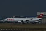 よしポンさんが、成田国際空港で撮影したスイスインターナショナルエアラインズ A340-313Xの航空フォト(写真)