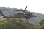 すけちゃんさんが、沼田市沼須運動場で撮影した陸上自衛隊 UH-60JAの航空フォト(写真)
